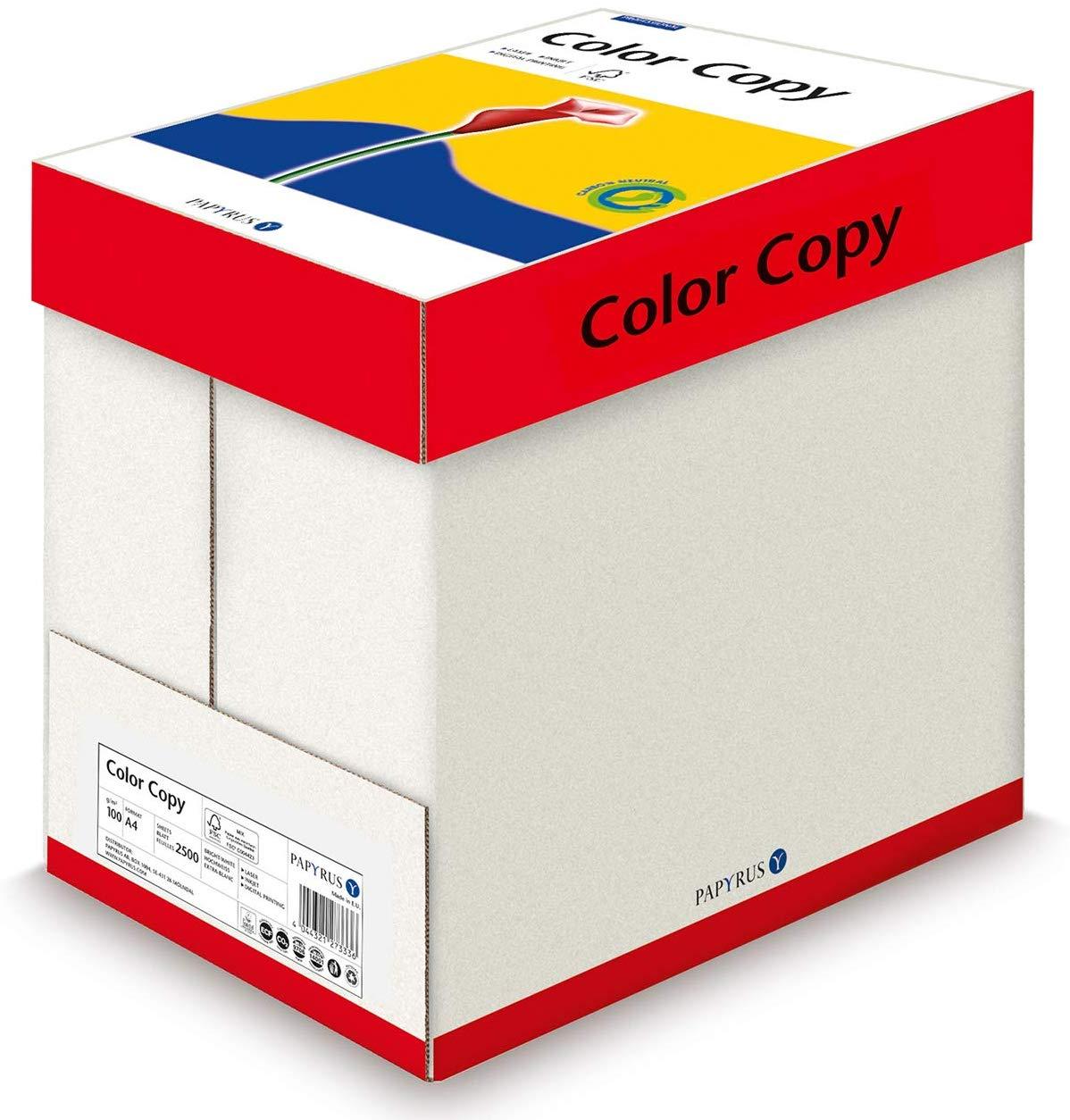 Papyrus 88007859 Drucker-/Kopierpapier, Farblaserpapier ColorCopy 100 g/m² A4, 2500 Blatt satiniert