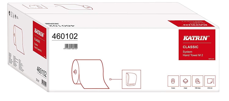 Katrin 460102 Classic System M2 Handtuchrolle, 2-lagig (6-er Pack)