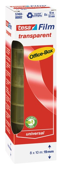 tesa transparent Office-Box 10m x 19mm 8 Rollen