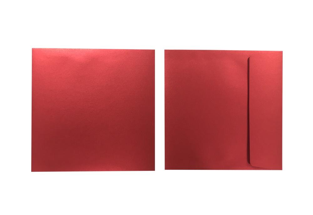 Inapa Shyne Umschläge Quadro Red Diamond 120g/m² 100 Stück