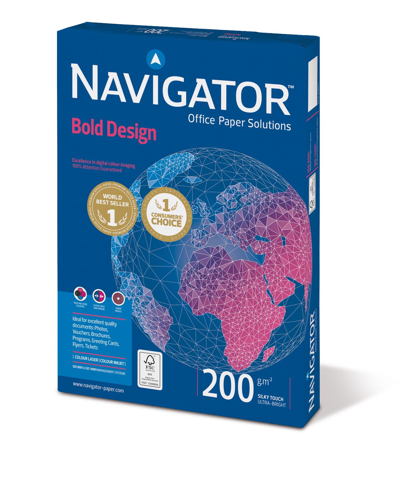 Navigator Bold Design Kopierpapier 200g/m² DIN-A4 150 Blatt weiß