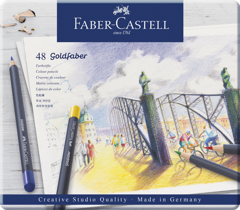 Faber-Castell Goldfaber Farbstifte permanent 48er Metalletui