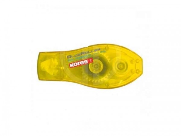 Kores Kleberoller / Glue Roller 8mm x 10m non-permanent gelb K38113