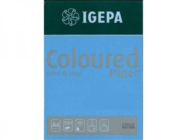 Igepa Coloured Paper Intensiv intensivblau 80g/m² DIN-A4 - 500 Blatt