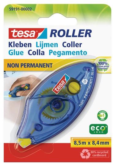 tesa Roller Kleben non permanent ecoLogo, Einwegroller ( Blister )