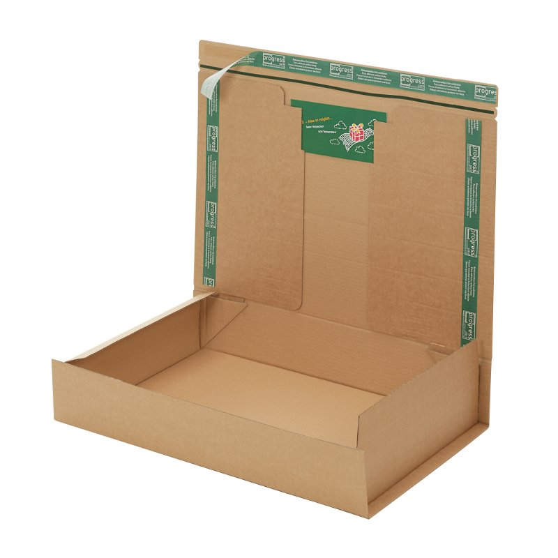 Progress - Postbox/Versandkarton - 600 x 420 x 110 mm - braun