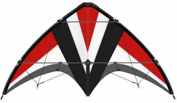Paul Günther 1031 - Sportlenkdrachen Whisper 125 GX, Drachen für Anfänger, Segel aus reißfestem Rips
