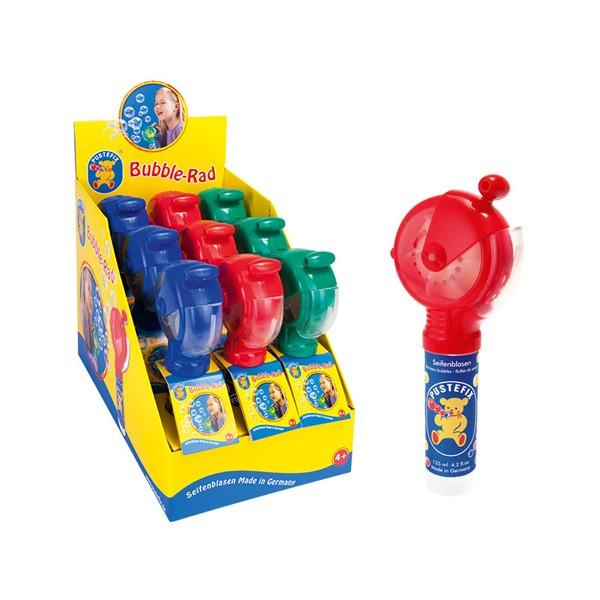 Pustefix – Bubble-Rad - Seifenblasen – 1 zufällige Farbe – Bubble - Seifenblasen für Kinder & Erwach