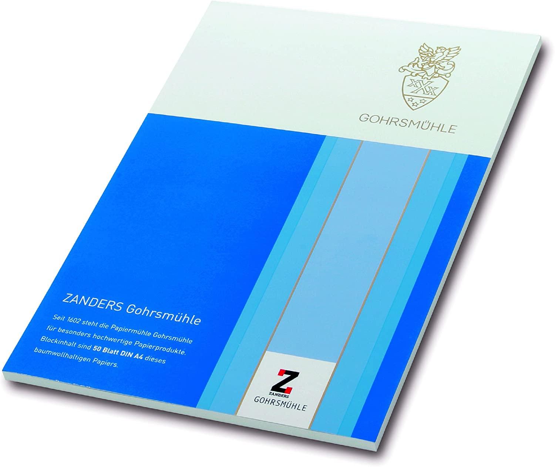 Zanders Gohrsmühle Briefpapier 100g/m² mit Waserzeichen 50 Blatt