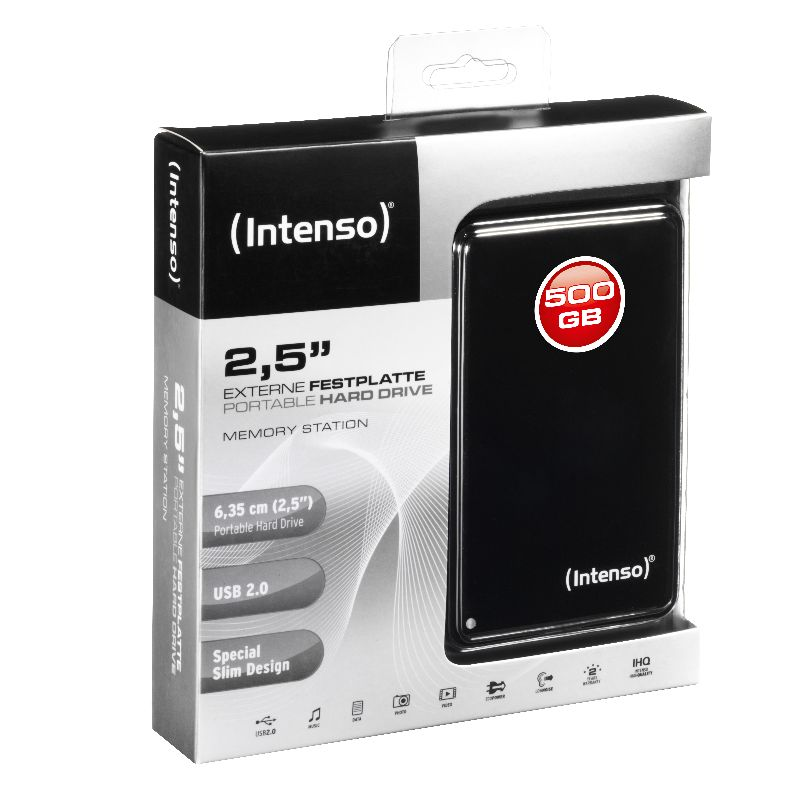 Intenso 2.5 HDD Drive 500GB USB2.0 black