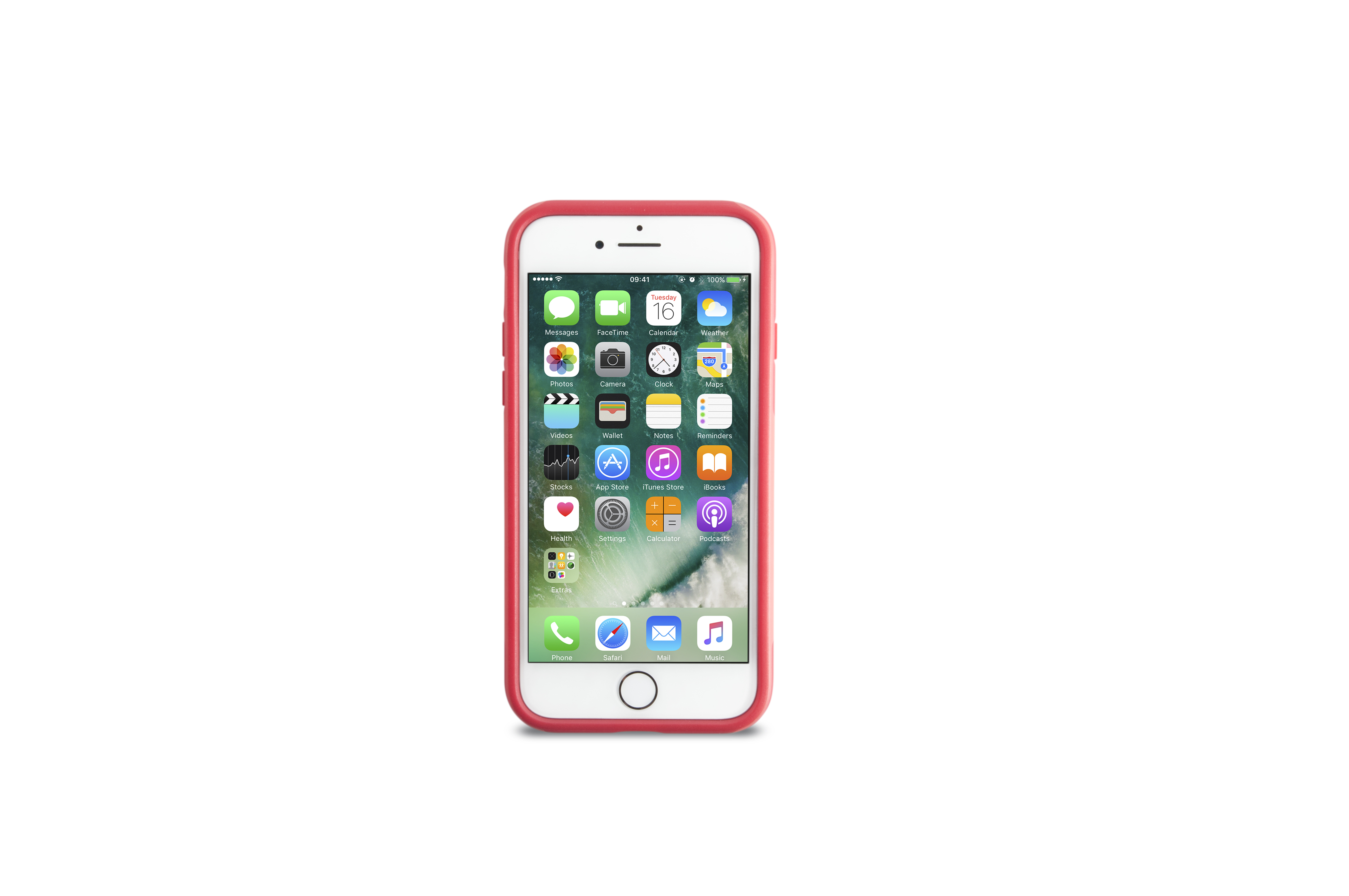 KMP Schutzhülle Sporty Case für Apple iPhone 7, red watermelon