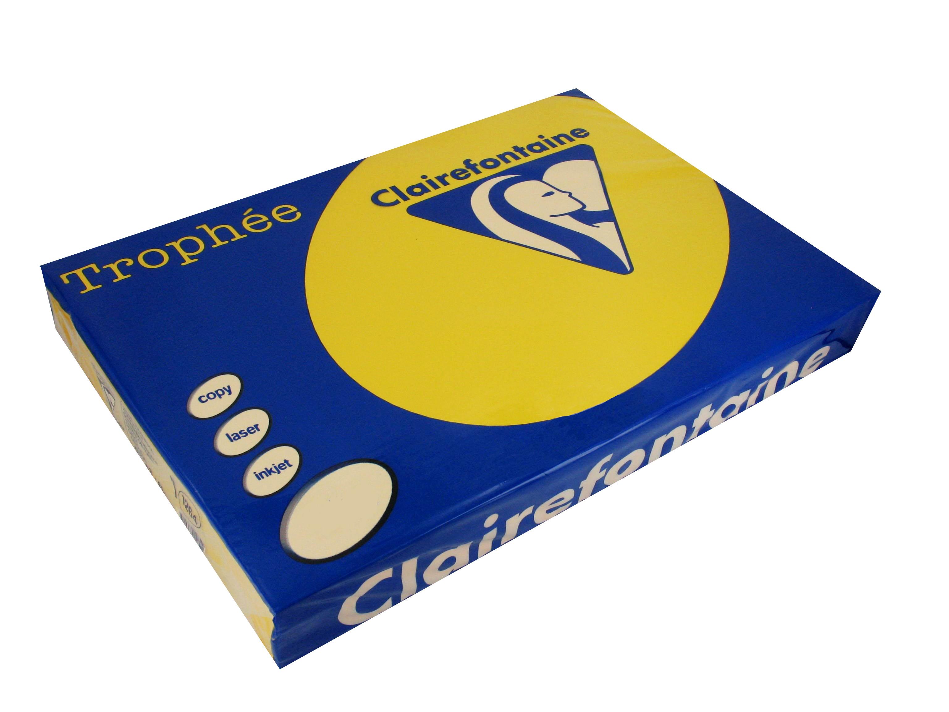 Clairefontaine Trophee Papier Ocker 160g/m² DIN-A4 - 250 Blatt
