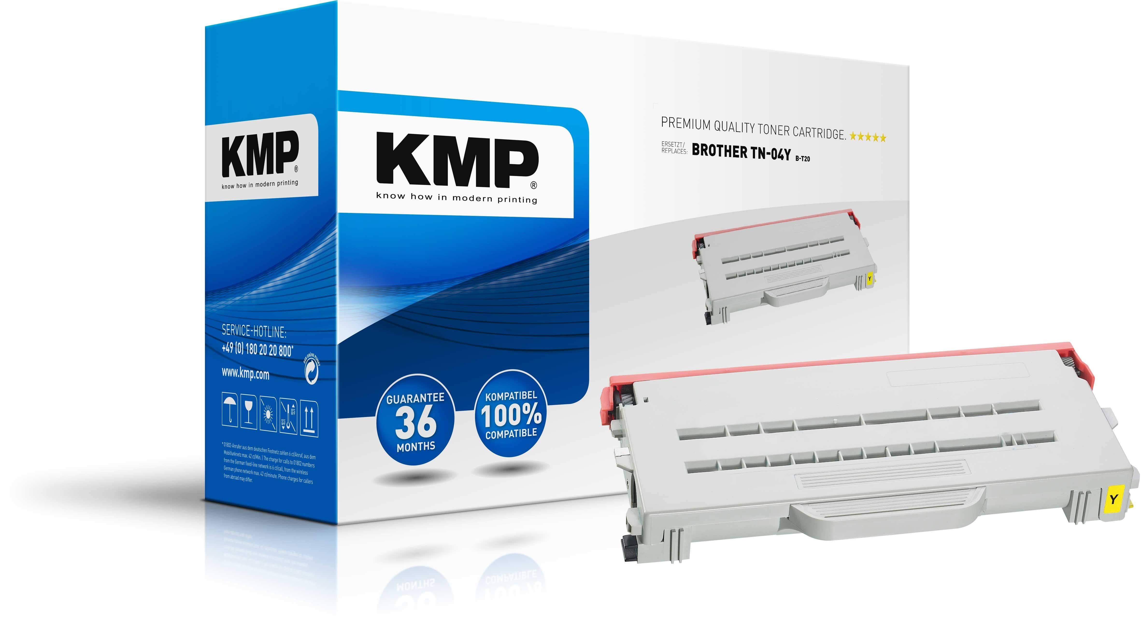 Vorschau: KMP Toner für Brother TN-04Y HL-2700CN MFC-9430CN yellow