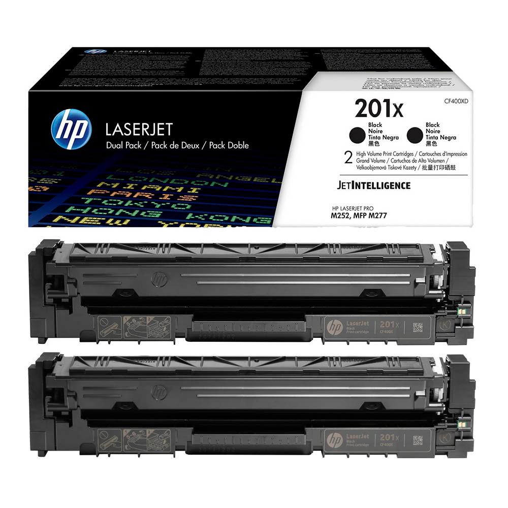 Original 2er Pack HP 201X (CF400XD) schwarz Toner HP Color LaserJet Pro M252/MFP 274n/M277