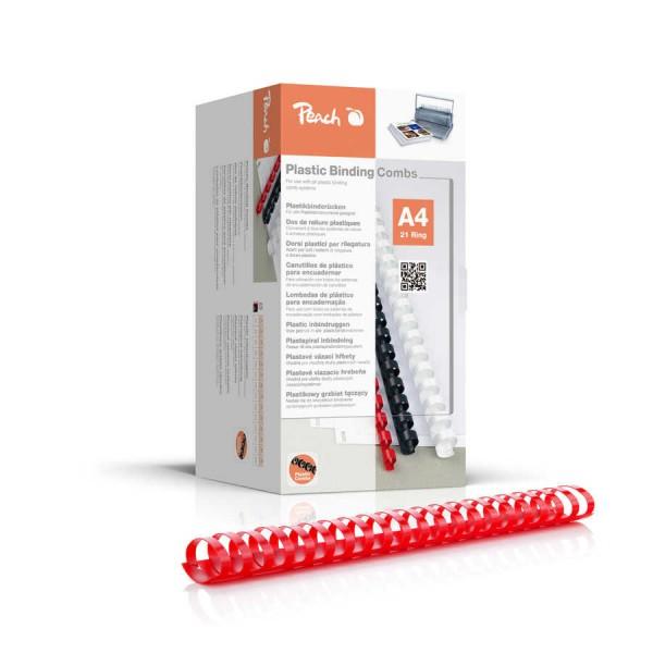 Peach Binderücken 44mm, für 440 Blatt A4, rot, 50 Stück, PB444-03
