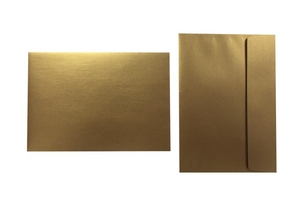 Inapa Shyne Umschläge C5 Golden Copper 120g/m² 100 Stück
