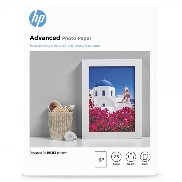 HP Q8696A Advanced Fotopapier, glänzend, 250 g/m², 13 x 18 cm, 25 Blatt