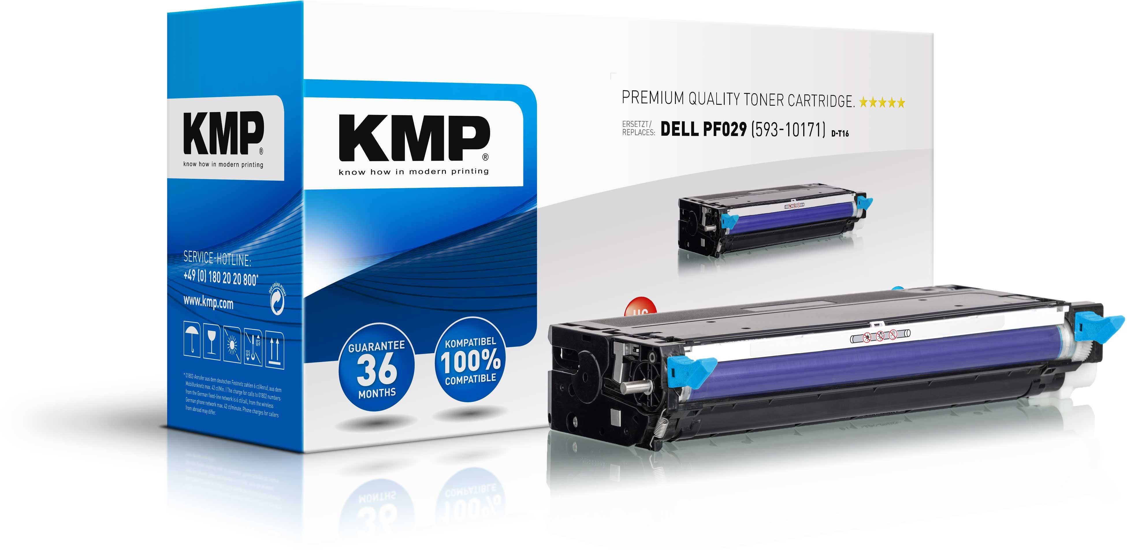 KMP Toner D-T16 für Dell PF029 3110cn etc. Cyan
