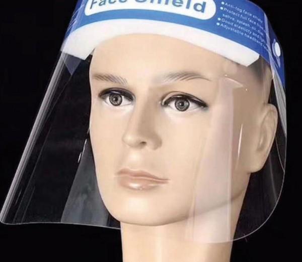 Gesichtsschutz, FACE Shield 33x22cm, mit verstellbarem Gummi, breiter Schaumstoffstreifen