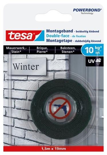 tesa Montageband Mauerwerk, 10 kg, 5 m x 19 mm