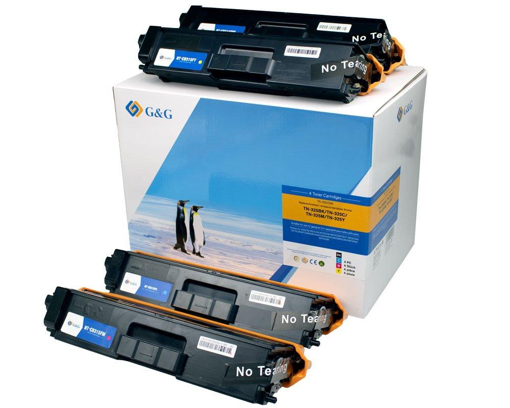 G&G Image Toner-Kombipack kompatibel zu Brother TN-325 schwarz, cyan, magenta, gelb