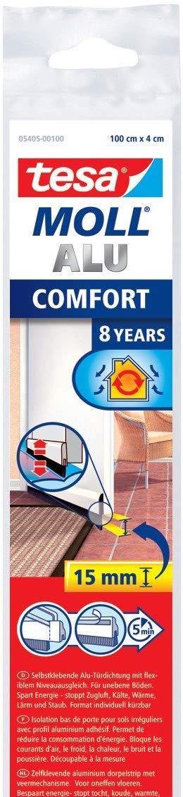 tesamoll® Comfort Türdichtschiene für unebene Böden braun