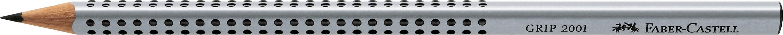 Faber-Castell Bleistift GRIP 2001 - B, silbergrau