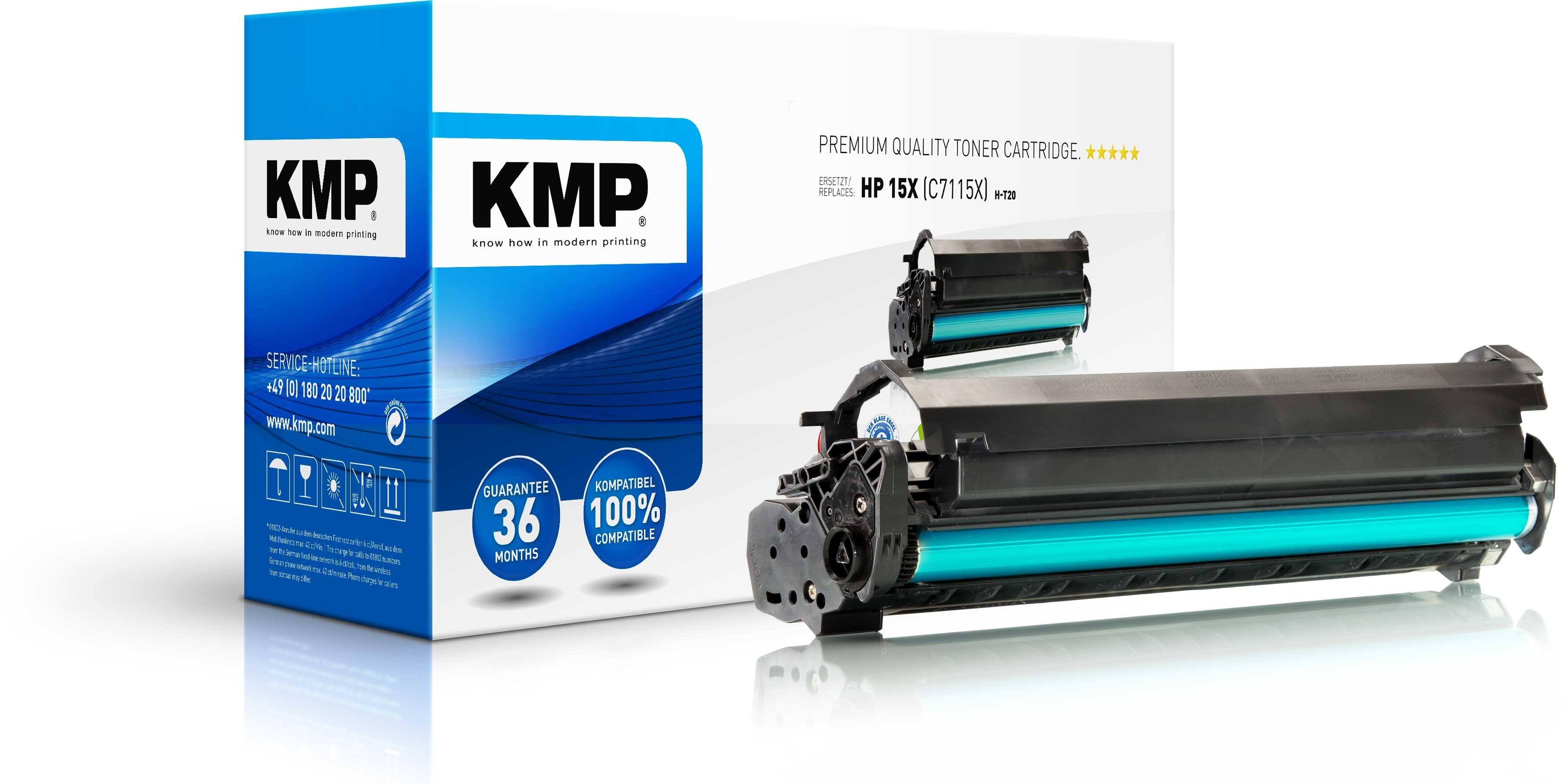 KMP Toner für HP C7115X Laserjet 1005W/1200/N/3300 MFP High Yiel