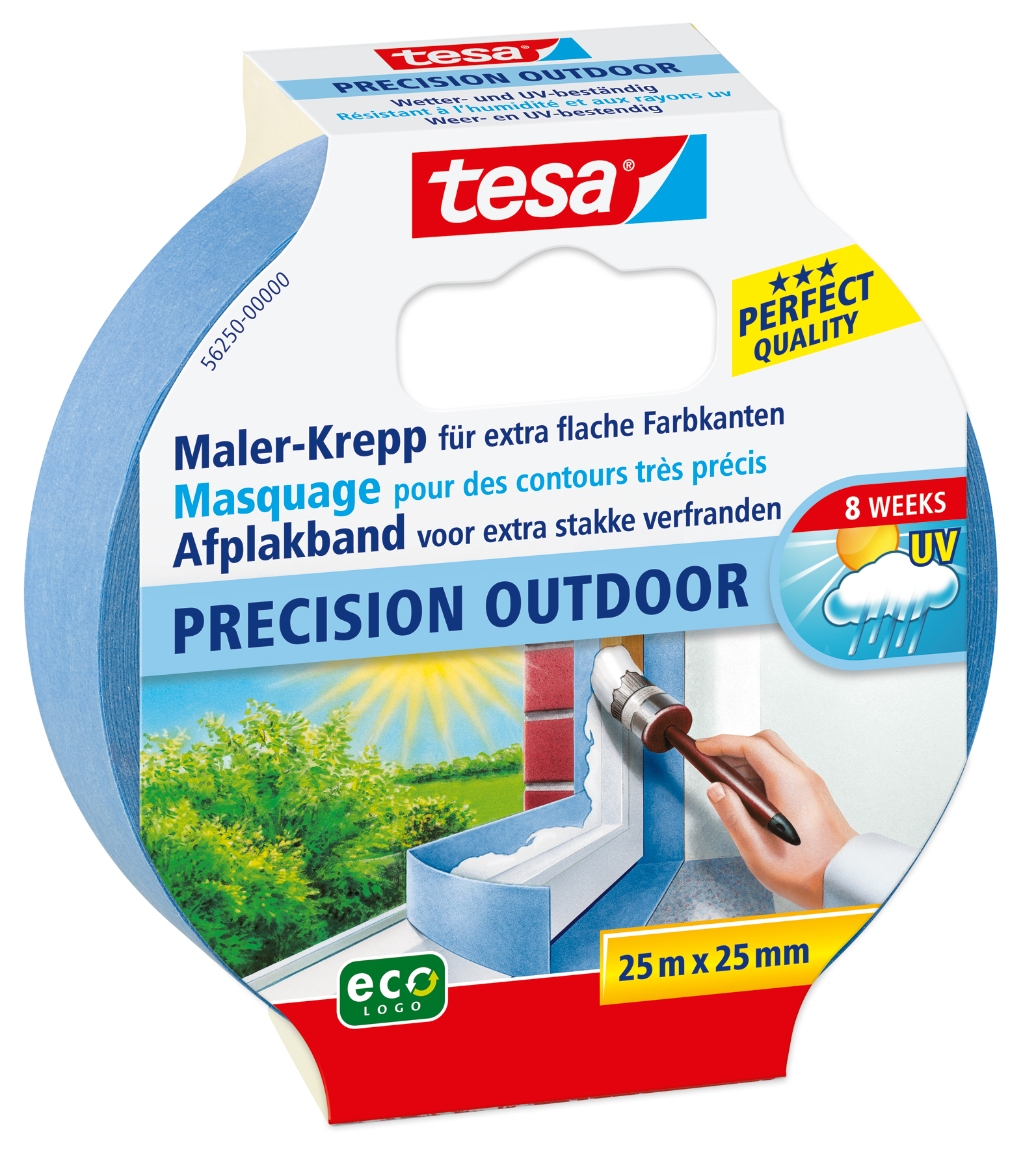 GP: 0,13 EUR/m 6 x tesa Maler-Krepp Precision Outdoor 25 m x 25 mm