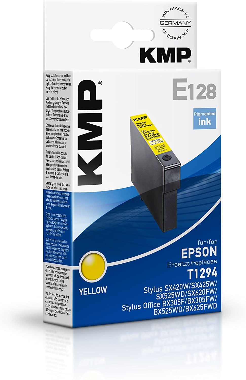 KMP Patrone E128 für Epson (Stylus SX420W,SX425W, SX525WD, SX620FW) gelb