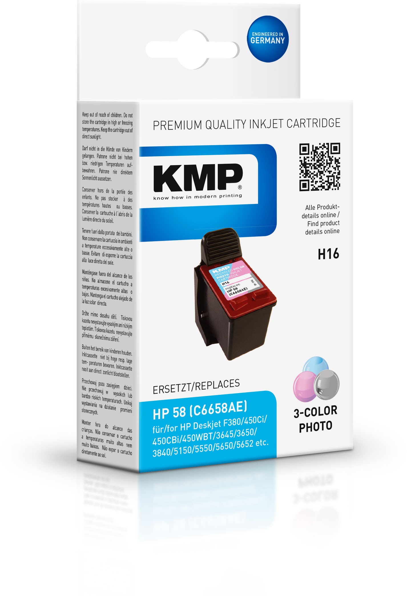 Vorschau: KMP Patrone H16 komp. zu HP 58 C6658AE DeskJet 5550 5850 foto