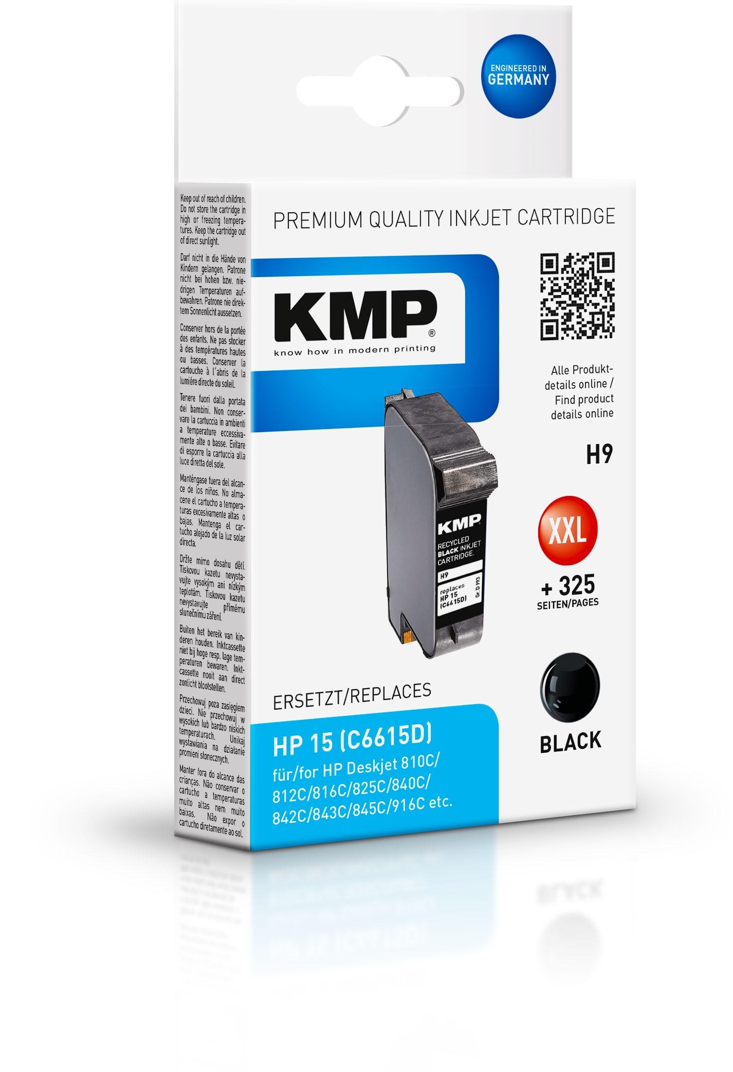 KMP Patrone H9 komp. zu HP 15 C6615D DeskJet 840C 843C black