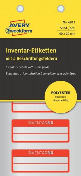 AVERY Zweckform 6911 Polyester Inventaretiketten (stark selbstklebend, strapazierbar, Kleinformat, 5