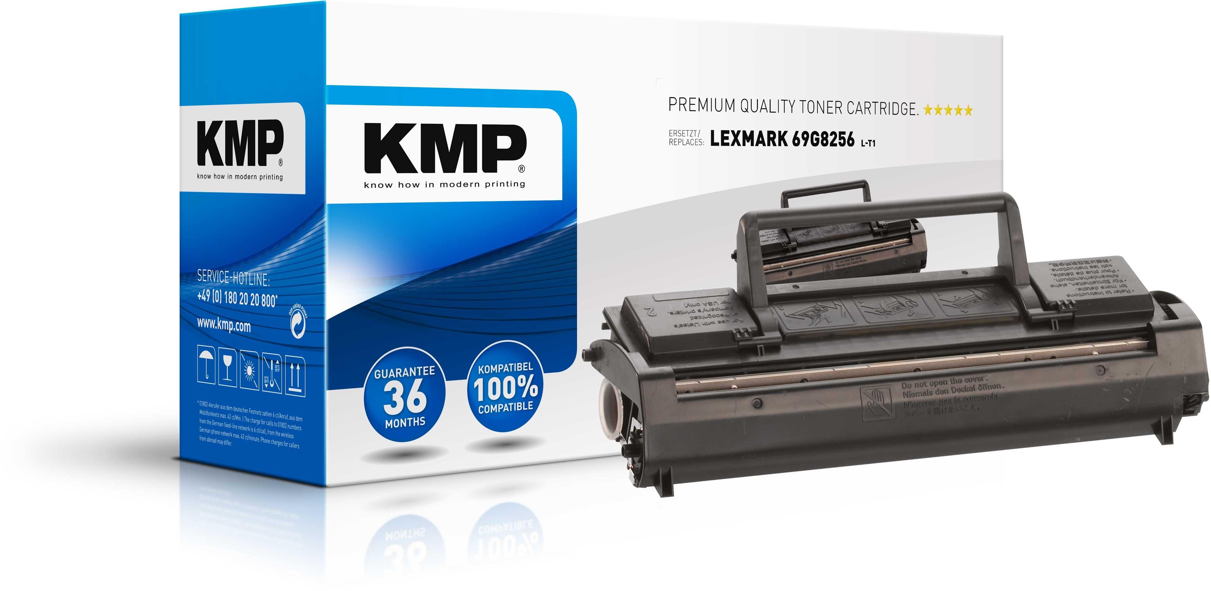 KMP Lexmark Toner für 69G8256 Optra E / Minolta Pagepro 6L / Epson EPL 5500 schwarz L-T1