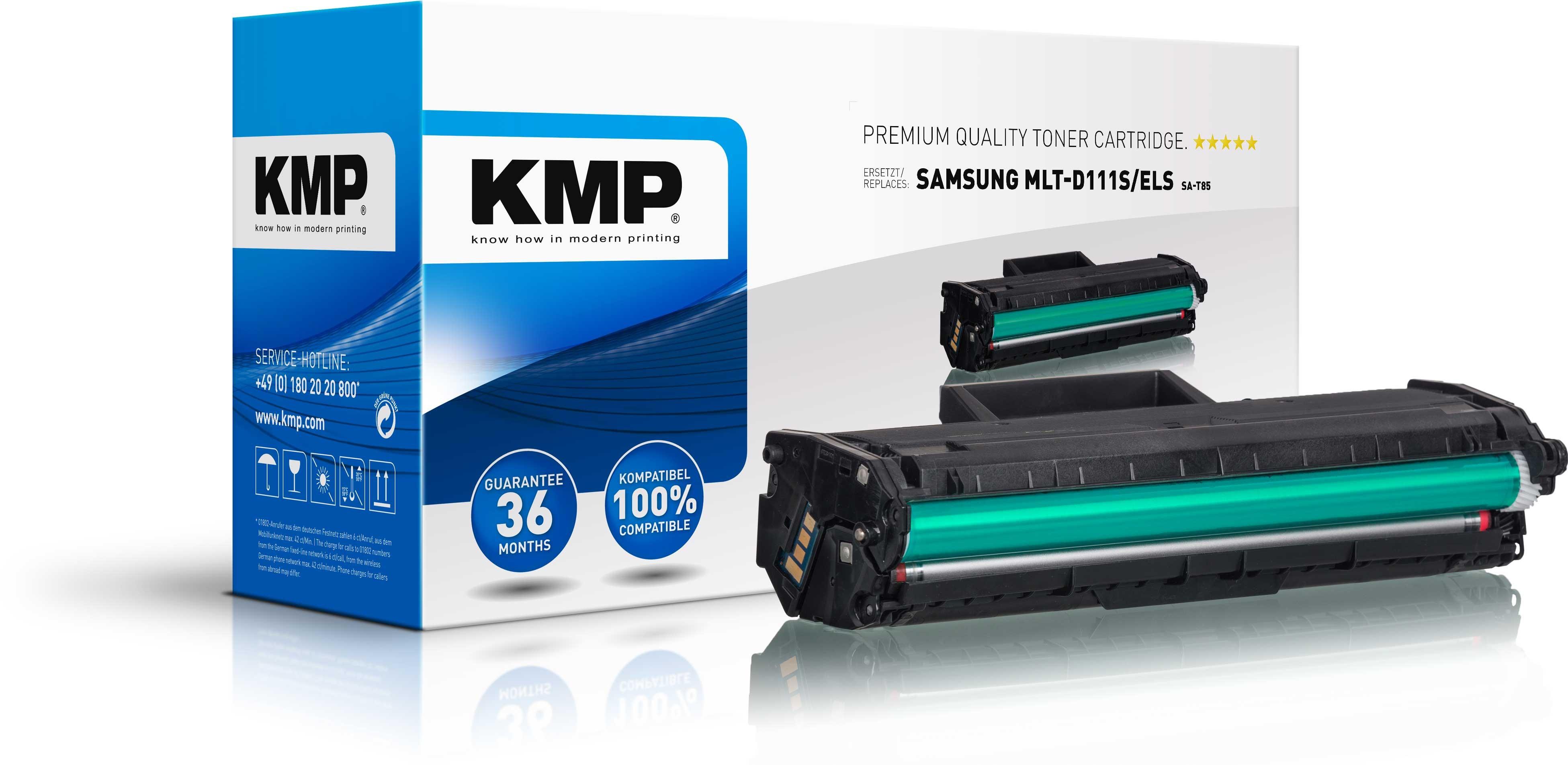 KMP Toner SA-T85 ersetzt MLT-D111S/ELS für Samsung Xpress M2022  etc. black