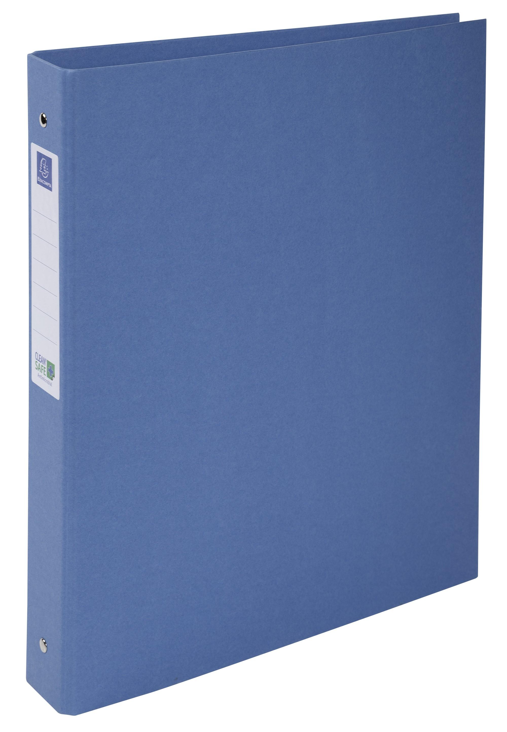 Exacompta, Clean'Safe Ringbuch A4, 4 Ringe 30mm - Blau