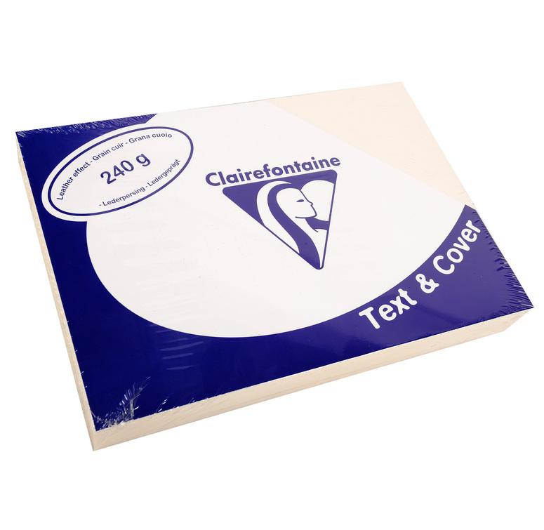 Clairefontaine Ledergeprägtes Papier 240 g/m² DIN-A4 Elfenbein 100 Blatt