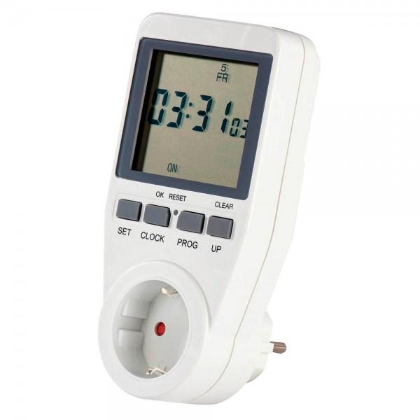 Hama digitale Zeitschaltuhr mit Wochenprogramm u. Zufallsfunktion (Wochenzeitschaltuhr mit extragroß