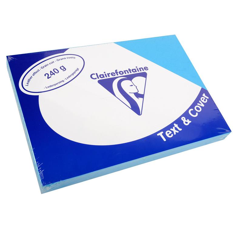 Clairefontaine Ledergeprägtes Papier 240 g/m² DIN-A4 Lazurblau 100 Blatt