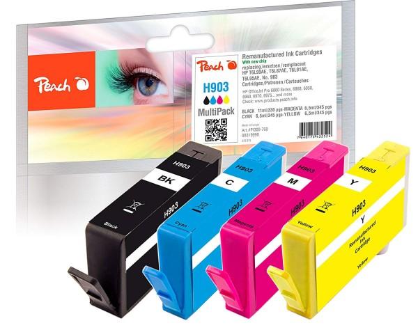 Peach Multipack H903 - PI300-760 kompatibel mit HP Nr. 903 T6L99AE T6L87AE T6L91AE T6L95AE