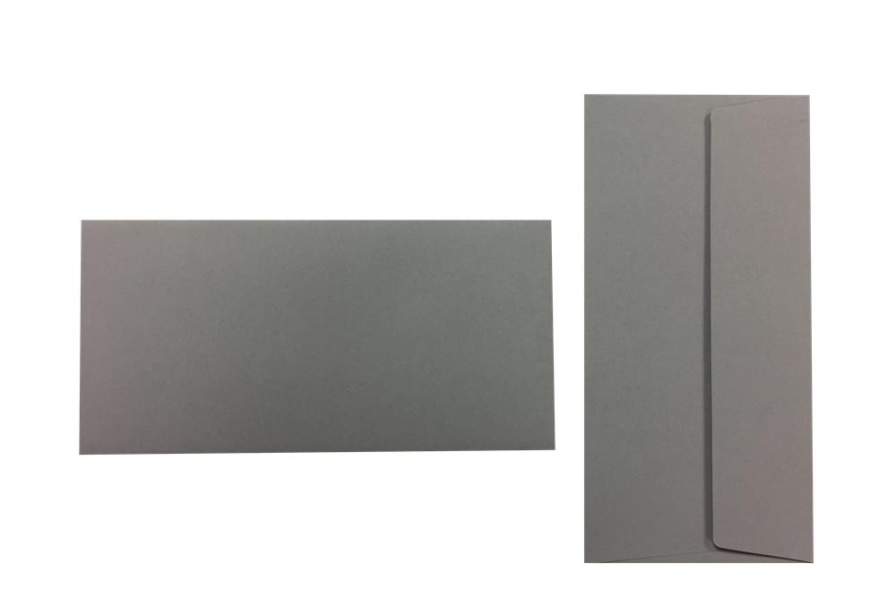 Pop'Set Umschläge DIN Lang kieselgrau 120g/m² 100 Stück
