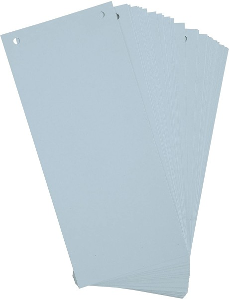 Exacompta 100er Pack Trennstreifen Karton 10,5 x 24 cm Blau für eine übersichtliche Ablage Ihrer Dok