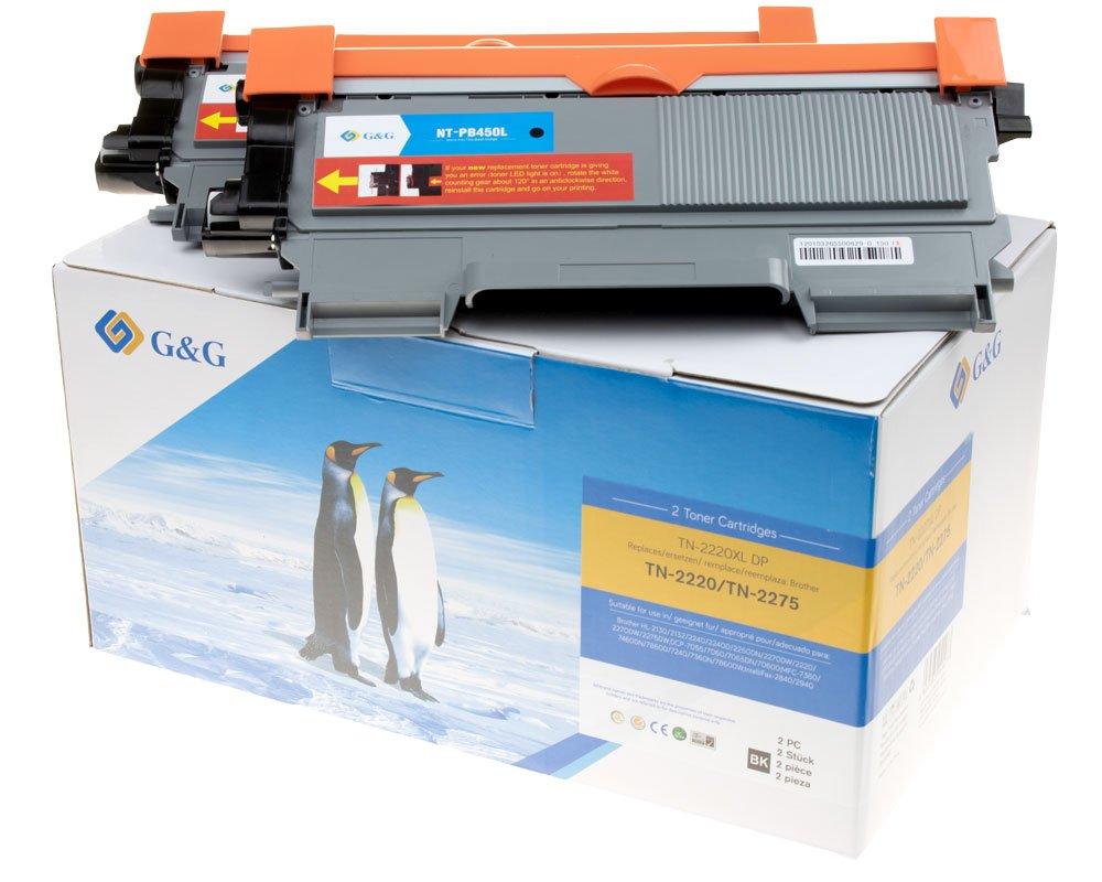 G&G Image XL-Toner kompatibel zu Brother TN-2220 -Doppelpack- (2x 5.200 Seiten)