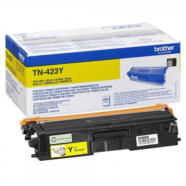 Original Brother Toner TN-423Y yellow ca. 4.000 Seiten