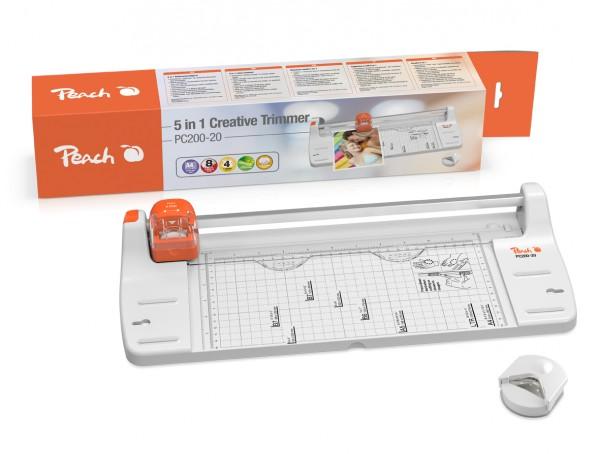 Peach PC200-20 | 5 in 1 Schneidemaschine | Rollenschneider | schneidet 10 Blätter (80g/m²) | inkl. E