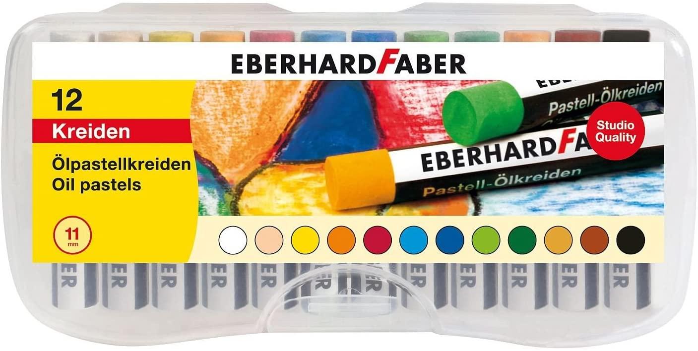 Eberhard Faber 522013 - 12x Ölpastellkreiden in Plastikbox