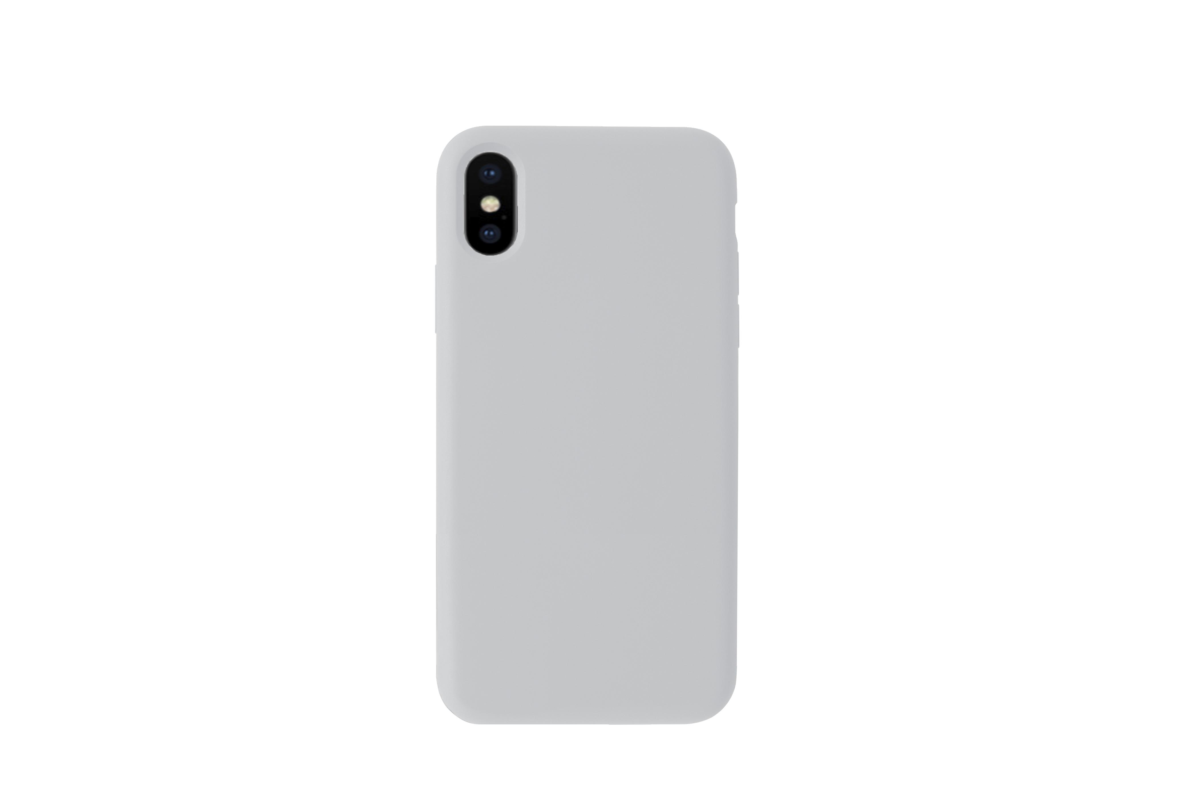 KMP Schutzhülle Silicone Case für iPhone XS Max-quiet gray