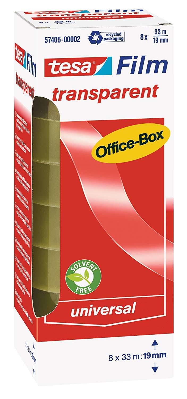 Vorschau: tesafilm Klebeband, transparent, Office-Box mit 8 Rollen, 33m x 19mm 57405-00002
