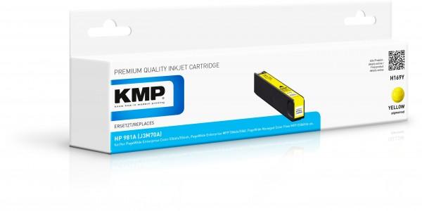 KMP Patrone H169Y für (J3M70A) HP 981A HP PageWide Enterprise Color 550 Series HP PageWide Enterpris