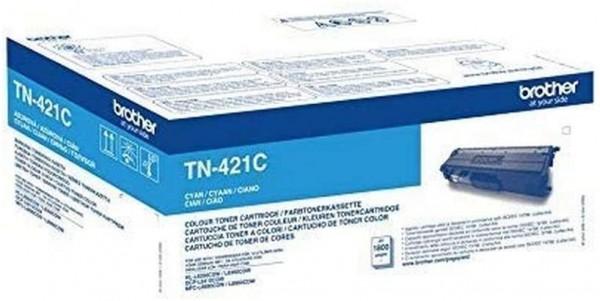 Brother Original Tonerkassette TN-421C cyan (für Brother HL-L8260CDW, HL-L8360CDW, DCP-L8410CDW, MFC